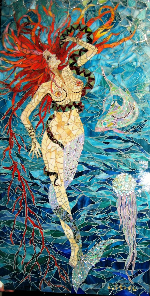 Mermaid-snake-jellyfish by Anne Bedel via Wikimedia Commons