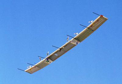 <tt>Flying wing used  to monitor storms and possibly establish communication links, from nasa.gov</tt>