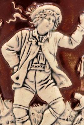 <tt>Faience beer stein with dancing via Wikimedia Commons</tt>