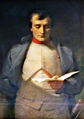 <tt>Napoleon I 1769–1821 Reading His Letter of Abdication by George Richmond</tt>