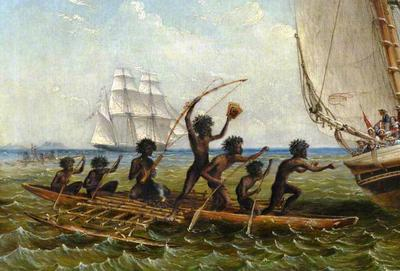 <tt>Aboriginal Canoes by Thomas Baines</tt>