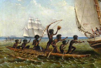 <tt>Aboriginal Canoes by Thomas Baines</tt>