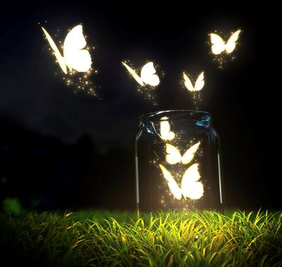 <tt>Jar of butterflies by Vadmary via Istock</tt>
