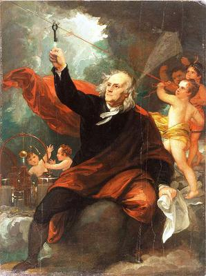 <tt>Benjamin Franklin Drawing Electricity from the Sky via Wikimedia Commons</tt>