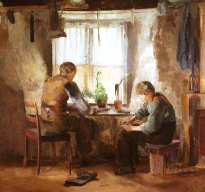<tt>Backer Bygdeskomakere by Harriet Backer via Wikimedia Commons</tt>