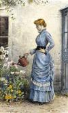<tt>Watering the flowers by George Goodwin Kilburne via Wikimedia Commons</tt>