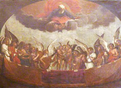 <tt>A Choir of Angels Singing and Playing Musical Instruments with God the Father above by Guido Reni (1575–1642)</tt>