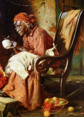 <tt>Reading Tea Leaves by Harry Herman Roseland via Wikimedia Commons</tt>